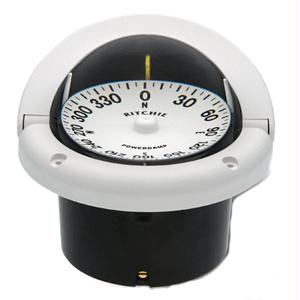 Ritchie Compass HF-742W 4-1/2 Power Damp Helmsman Flush Mount Compasses - White