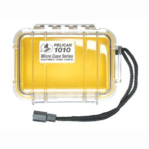 PELICAN PRODUCTS 1010-027-100 Pelican 1010 Micro Case - Yellow with Clear Lid