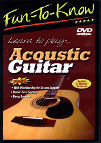 Education 2000 822479033620 Fun-To-Know - Learn to Play Acoustic Guitar - DVD