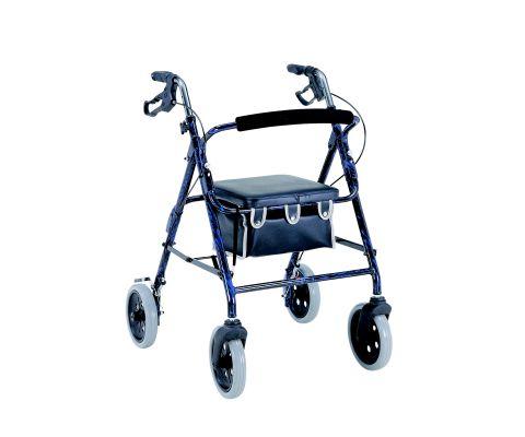 Merits W463GREEN 4-Wheeled Rollator  Aluminum  Loop Brake  8 Inch Wheels - Green