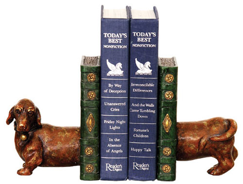 "Sterling Industries 93-5784 6.25"" H x 4.25"" W x 10"" D Pair Peppy Bookends"