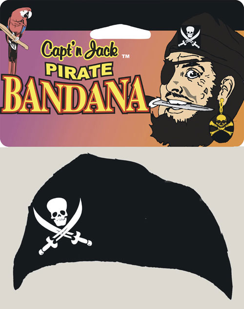 Head Bandana - Costumes For All Occasions 10223 Pirate Jack Head Bandana