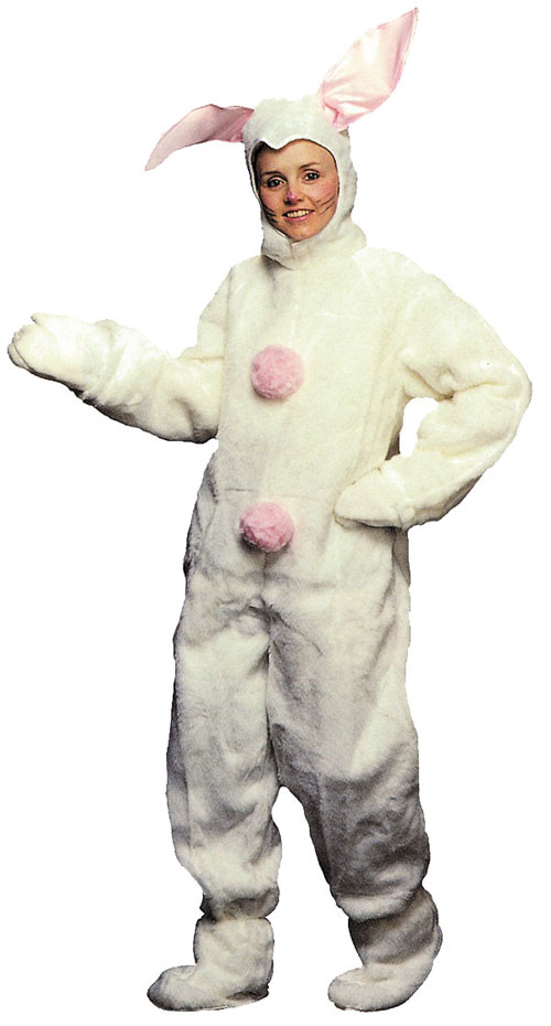 Costumes For All Occasions AD74 Bunny Suit Mens XLarge White