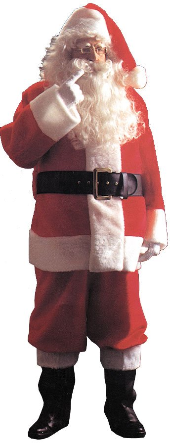 Costumes For All Occasions AE03 Santa Suit Plsh 5591