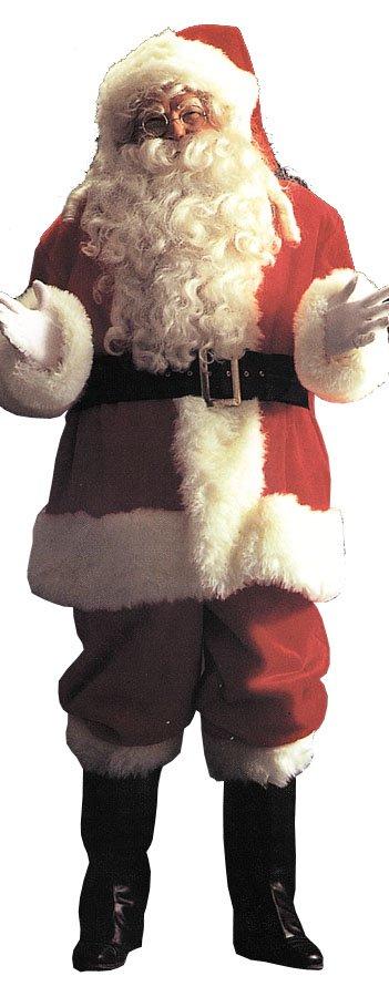 Santa Suit - Costumes For All Occasions AE04 Santa Suit Deluxe 9191