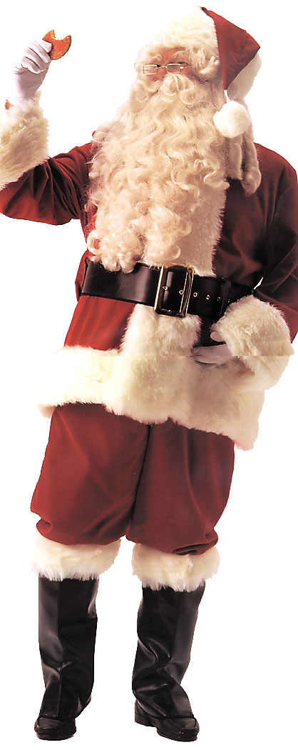 Costumes For All Occasions AE14 Santa Suit Deluxe Velvet