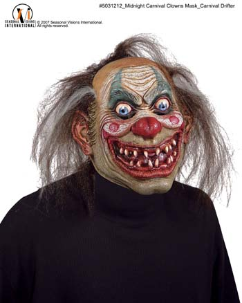 Clown Costumes - Costumes For All Occasions MR031212 Carnival Drifter Clown Mask