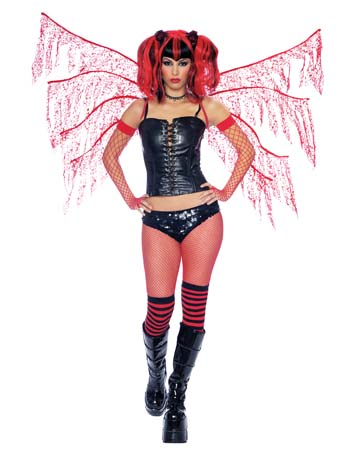 Costume Wings - Costumes For All Occasions MR155043 Dark Nymph Wings Red