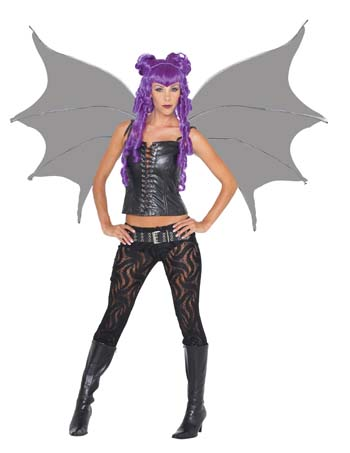 Costume Wings - Costumes For All Occasions MR155045 Demonette Wings Black