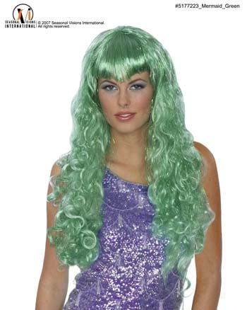 Mermaid Costumes - Costumes For All Occasions MR177223 Mermaid Wig Green