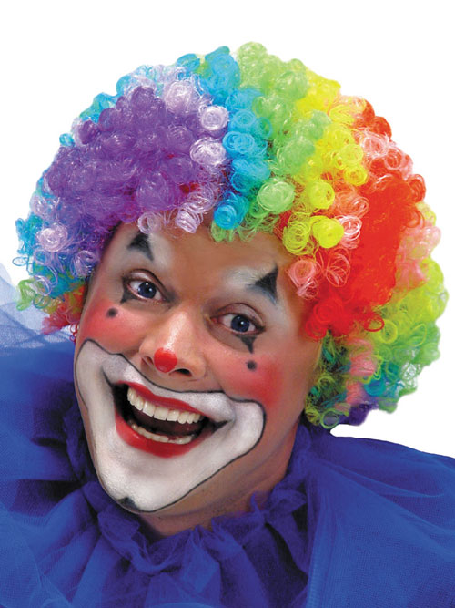 Clown Costume - Costumes For All Occasions MR179005 Wig 7 Color Clown