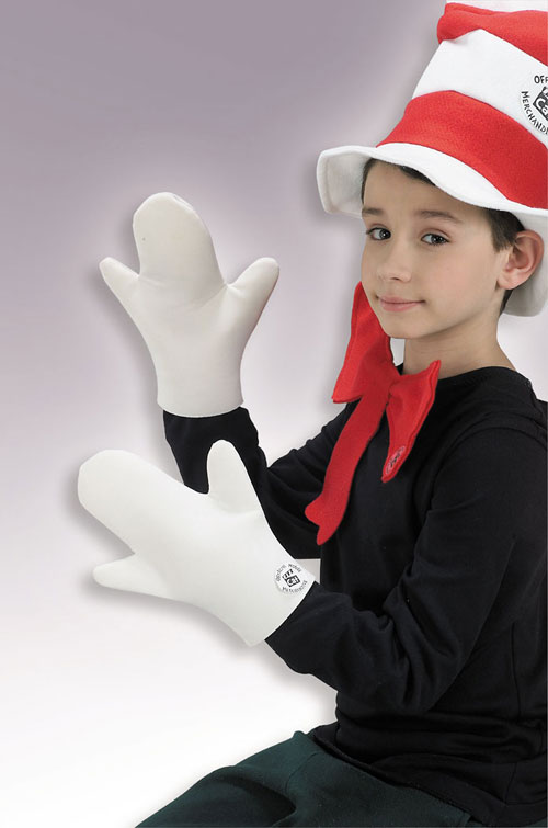 Cat In The Hat Costume - Costumes For All Occasions RU444 Cat In Hat Mitts Child