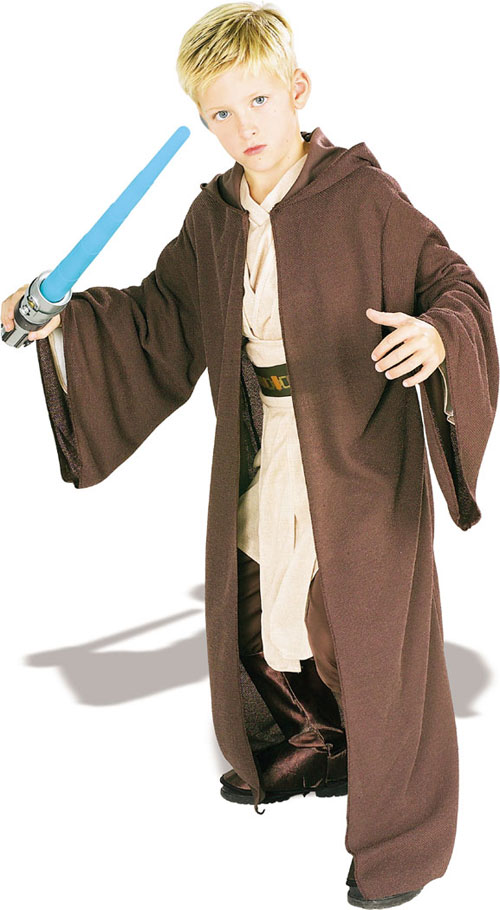 Child Jedi Robe Deluxe - Costumes For All Occasions RU82025LG Jedi Robe Deluxe Child Large