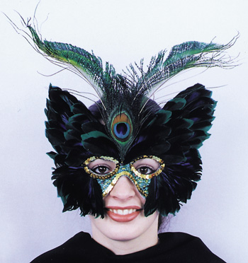 Butterfly Costume - Costumes For All Occasions TI50 Mask Feath Peacock Butterfly