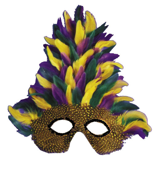 Mardi Gras Costumes - Costumes For All Occasions TI53 Mask Mardi Gras Tall Feather