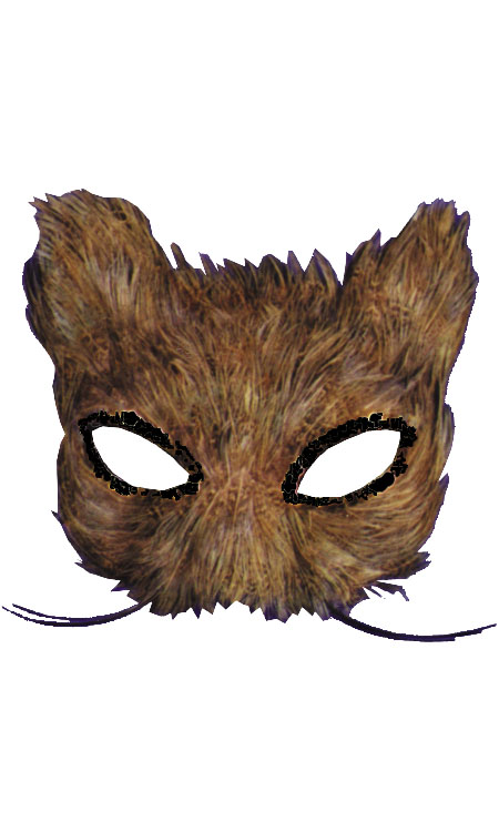 Cat Costume - Costumes For All Occasions TI55 Mask Cat Feather Natural