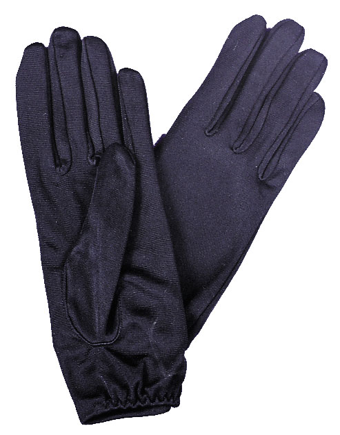 Ladies Gloves - Costumes For All Occasions BA04BK Gloves Ladies Nylon Blk 1 Size