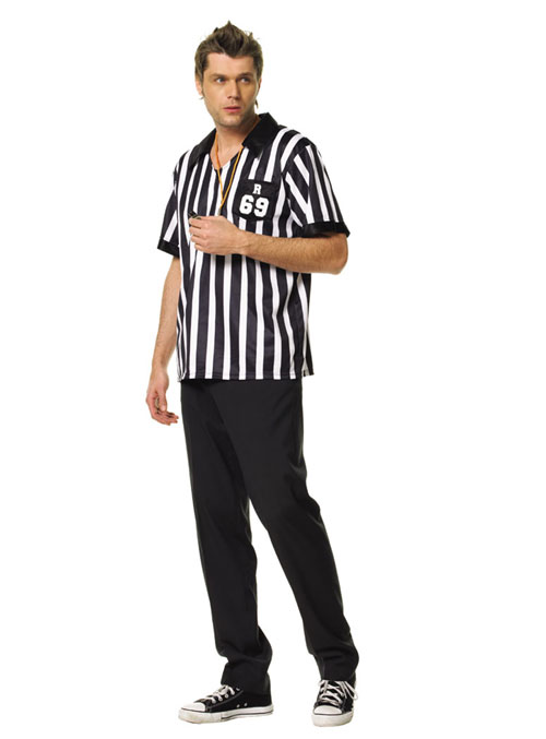 Referee Shirts - Costumes For All Occasions UA83097ML Referee Shirt Mens Medium Large