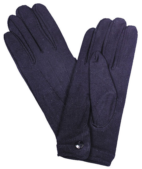 Mens Gloves - Costumes For All Occasions BA24 Gloves Nylon W Snap Mens Black