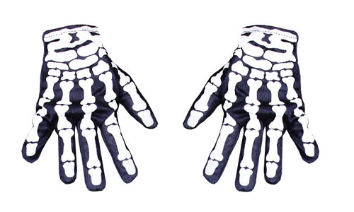 Skeleton Gloves - Costumes For All Occasions BA26 Glove Skeleton Hand Not Glow