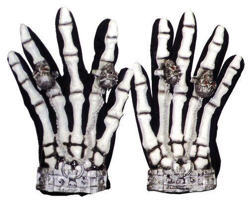 Skeleton Gloves - Costumes For All Occasions BA28 Gloves Skeleton Lite Up