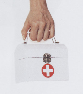 Nurse Costume - Costumes For All Occasions UAA1508WT Purse Nurse White