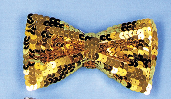 Cheap Costumes - Costumes For All Occasions BB133GD Bow Tie Sequin Gold