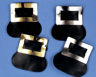 Colonial Costumes - Costumes For All Occasions BB221GD Shoe Buckles Colonial Gold