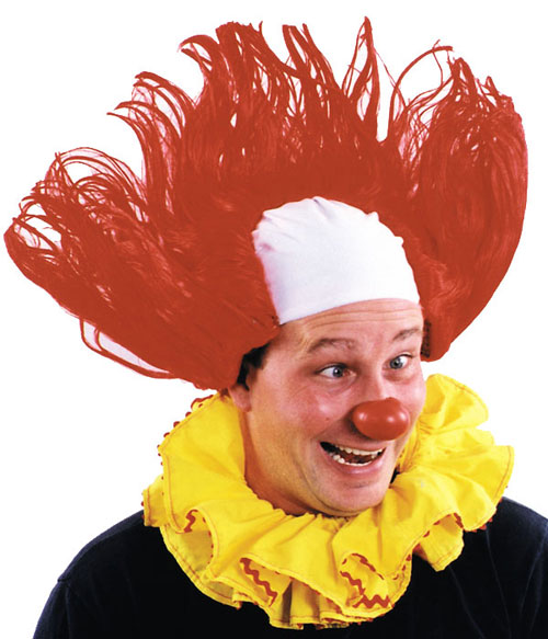 Costumes For All Occasions CA101 Clown Wig All American Red Y