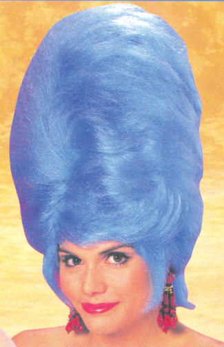 Costumes For All Occasions CA54 Beehive Wig Blue