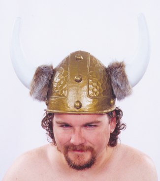 Viking Costume - Costumes For All Occasions 95001 Viking Helmet Gold 1 Size