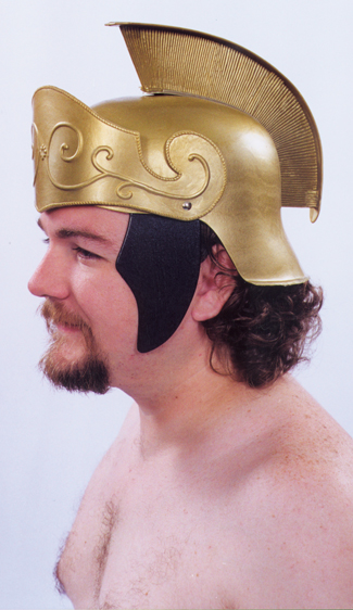 Costumes For All Occasions 95501 Roman Helmet Gold W Gold Crest