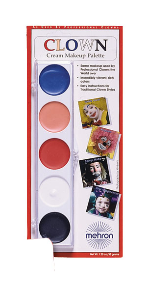 Costumes For All Occasions DD27 Clown Color Palette Carded