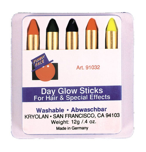 Costumes For All Occasions DE64 Day Glo Makeup Kit MRRS3650