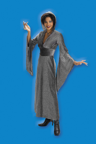 The Black Robe - Costumes For All Occasions DG1183 Black Glitter Robe