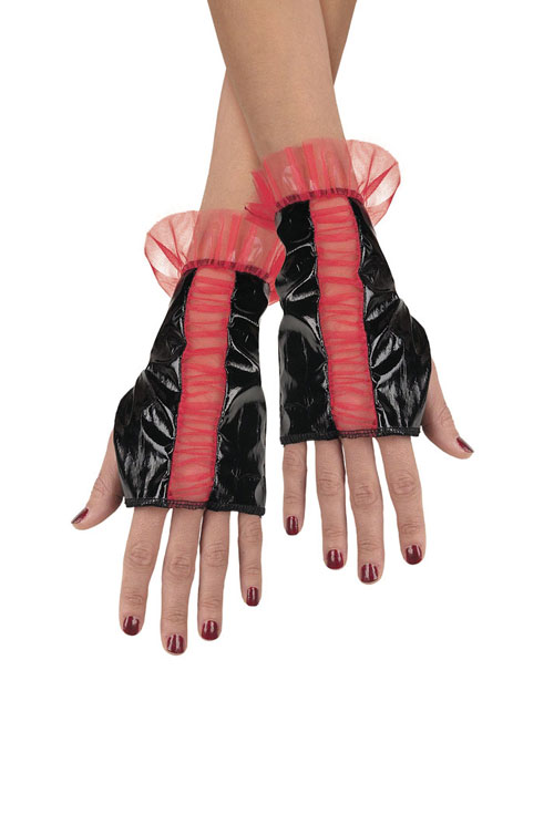 Costumes For All Occasions DG14382 Glovettes Rd Bk Rougd Adult