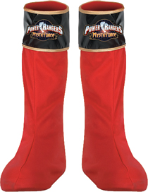 Power Ranger Costume - Costumes For All Occasions DG14626 Power Ranger Red Boot Covers
