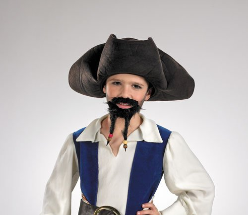 Pirate Hat - Costumes For All Occasions DG18639 Pirate Hat Must Goatee Child