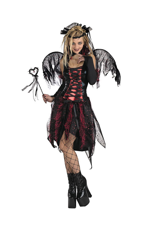 Fairy Costume - Costumes For All Occasions DG2304T Vamp Fairy Teen Size 7 To 9