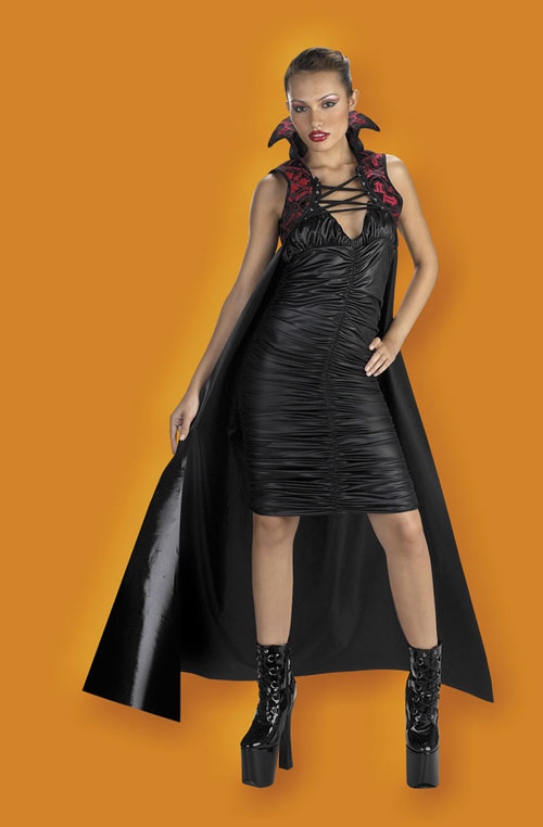 Costumes For All Occasions DG3837 Cape 60In Gothic Red Black