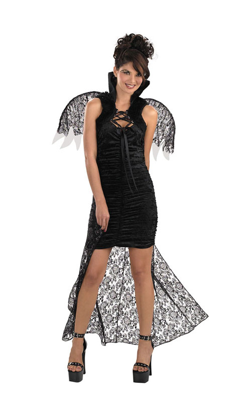Costume Wings - Costumes For All Occasions DG3845 Cape Black Lace With Wings