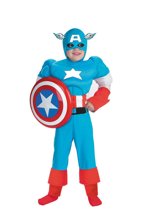 Captain America Costume - Costumes For All Occasions DG5017L Captain America Deluxe Mus 4 6