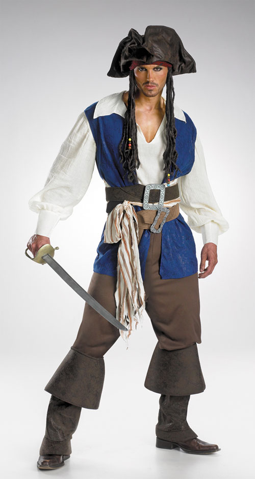 Jack Sparrow Costume - Costumes For All Occasions DG5035 Cptn Jack Sparrow Adult Deluxe