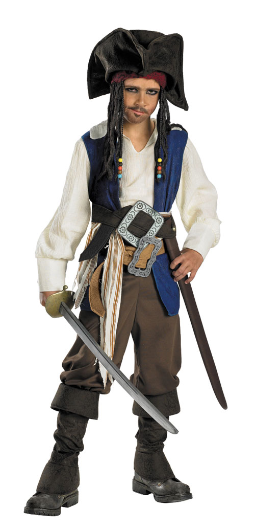 Jack Sparrow Costume - Costumes For All Occasions DG5042L Cptn Jack Sparrow Chd Deluxe 4 6