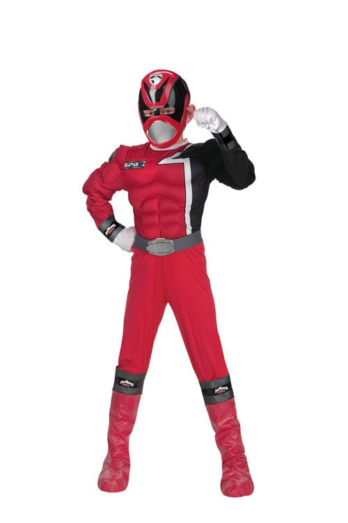 Power Ranger Costume - Costumes For All Occasions DG5085K Power Ranger Red Muscle 7 To 8