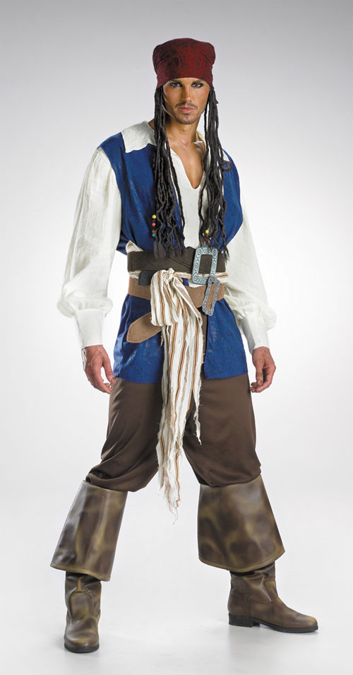 Jack Sparrow Costume - Costumes For All Occasions DG5101 Jack Sparrow Quality Adult