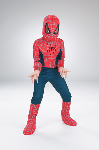 Spiderman Costume - Costumes For All Occasions DG5662H Spiderman Movie 7 To 10 Plus