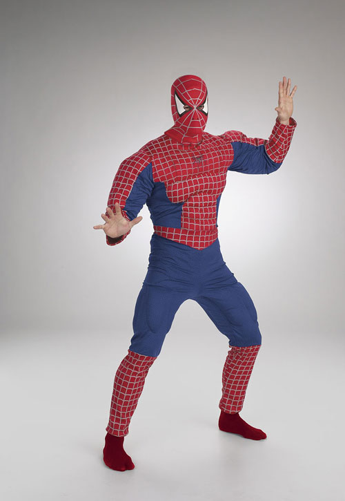 Costumes For All Occasions DG5933 Spiderman Muscle Chest Adult MRRS4556