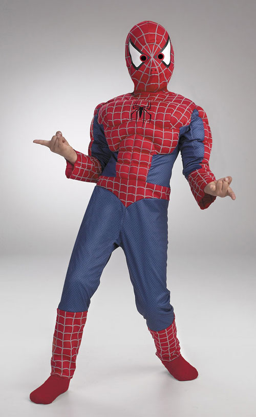 Spiderman Costumes - Costumes For All Occasions DG5935H Spiderman Muscle 7 To 10 Husky