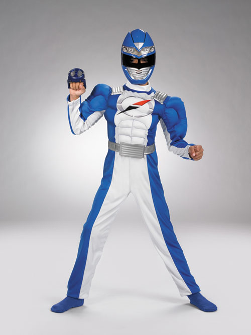 Power Ranger Costume - Costumes For All Occasions DG6560L Power Ranger Blue Muscle 4To 6